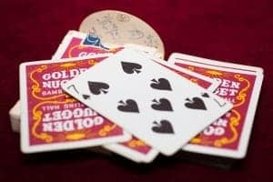 My favorite Golden Nugget decks. Very old and used red and the mythic Blue ! IMG_0706