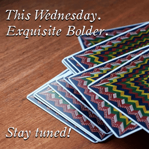 This wednesday at conjuringarts.org – stay tuned 😉 bolder-sale-tease