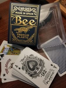 Does this deck really exist? A plastic bee? This one came from China, which arouses my suspicions. D