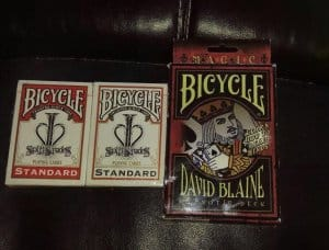 I've been looking for David Blaine's Hypnosis Split Spades Prototype decks (the red &amp