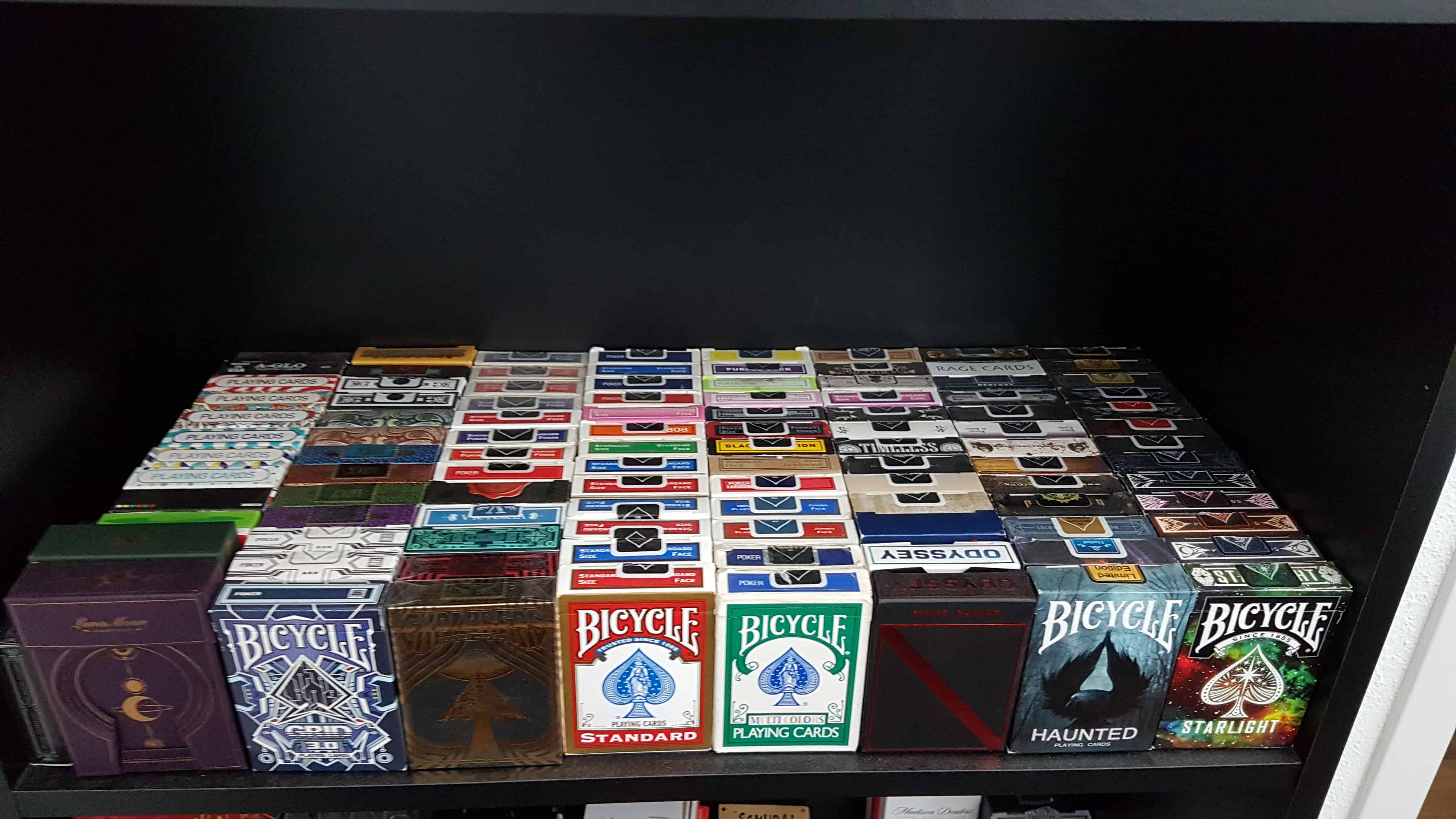 My current collection of over 900 decks and counting! When all of the decks arrive, I will be well o
