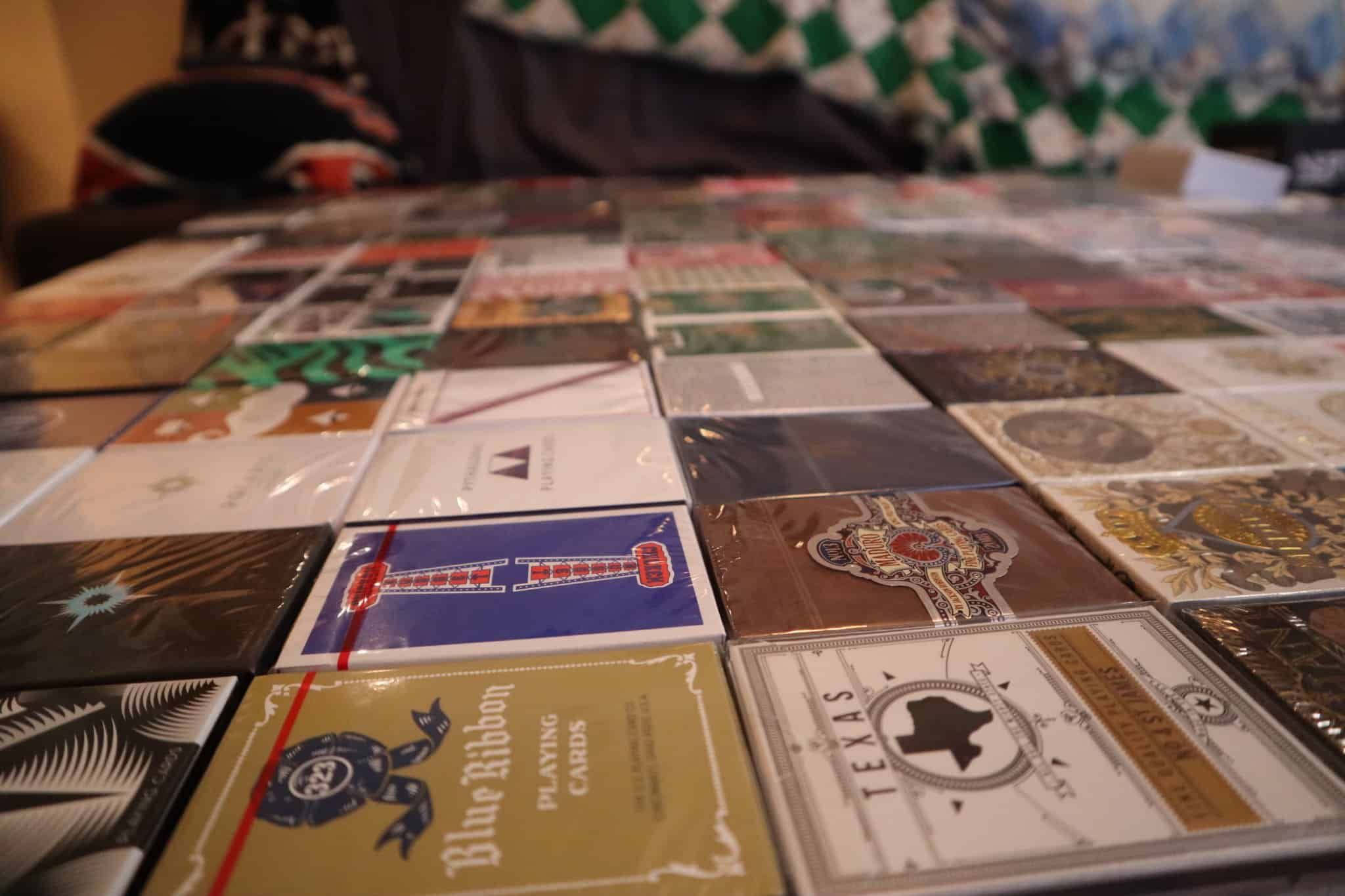 Currently 202 decks not counting doubles. I am the worst photographer so I hope you can see them all