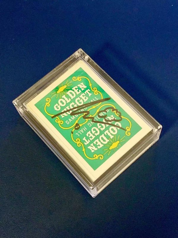 Lovely Green Golden Nugget playing cards. Signed by Shin Lim, winner of America's Got Talent 2018.