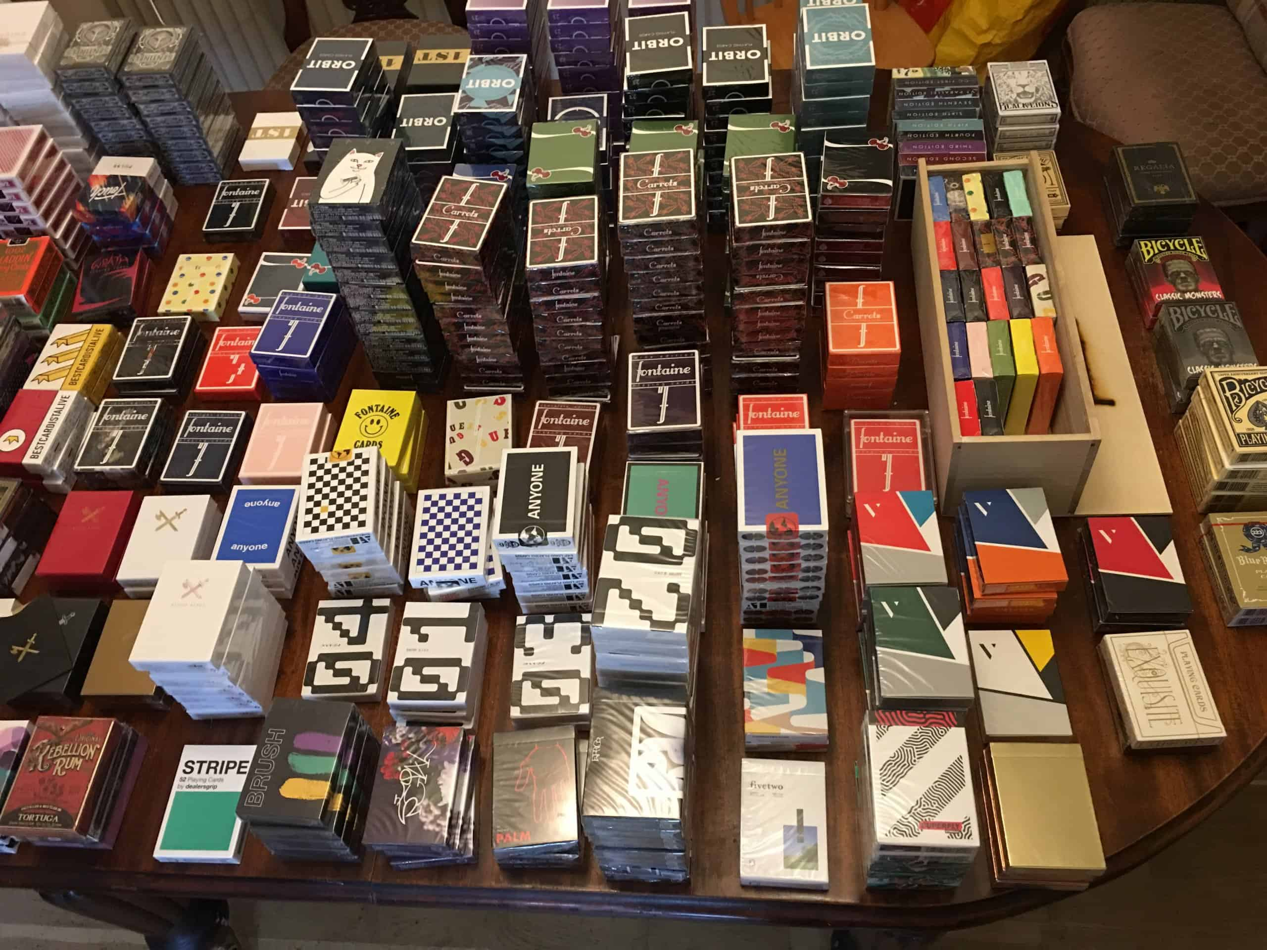 just sorted most the collection, just waiting on 150 decks in the post I am willing to sell some of
