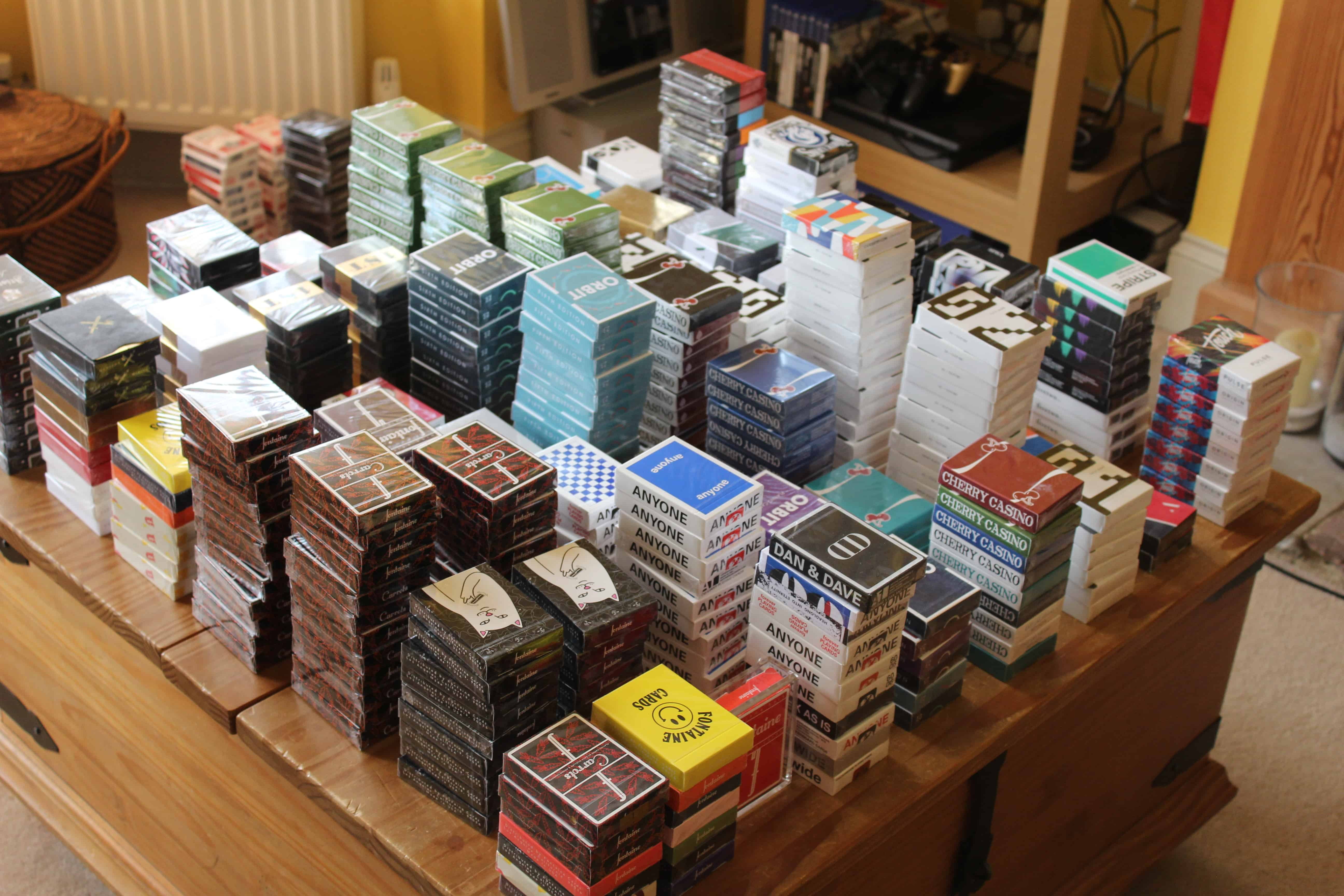about half the collection need to sort some more out and have a lot of new decks since the picture w